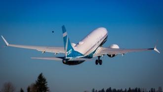 A Boeing 737 MAX plane