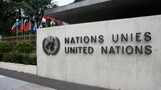 United Nations sign
