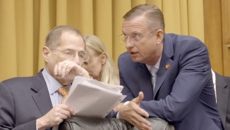 Rep. Jerry Nadler speaks with Rep. Doug Collins