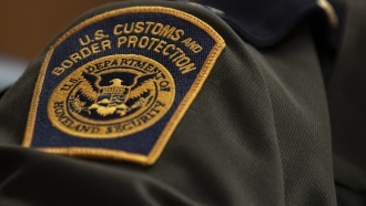 A U.S. Customs and Border Protection patch