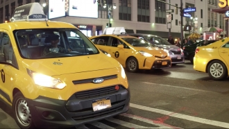 Taxi cabs in New York