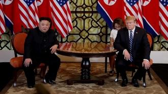 North Korean leader Kim Jong-un and President Donald Trump