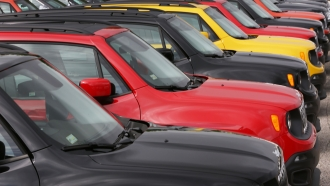 Jeep Renegades are seen for sale