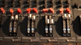 Music studio soundboard
