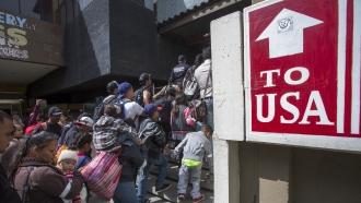 Migrants travel through Mexico towards U.S.