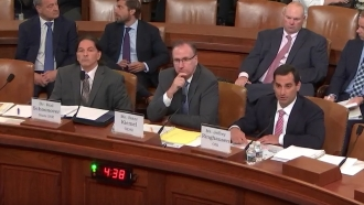 Witnesses at a House Intelligence Committee hearing on climate change