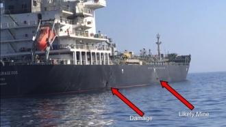 A tanker ship