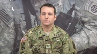 Sgt. Maj. James G. Sartor during an interview in 2016