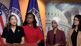 Reps. Alexandria Ocasio-Cortez, Ayanna Pressley, Ilhan Omar and Rashida Tlaib