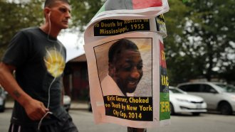 Flyer for Eric Garner, who died while he was arrested in 2014