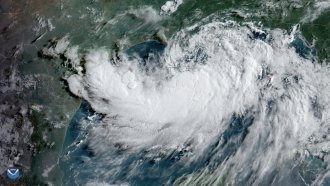 Then-Tropical Storm Barry on July 12, 2019.