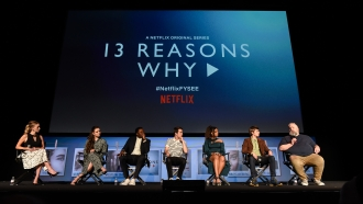 "The cast and show creator of ""13 Reasons Why"" speak on a panel"