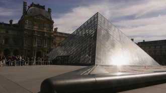 The pyramid of the Louvre museum