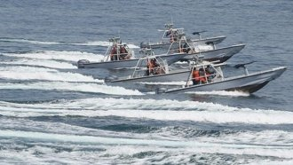 Iran Revolutionary Guard patrol boats