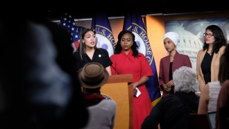 Congresswomen at a press conference