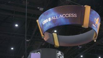 A CBS All Access banner at the 2019 San Diego Comic-Con