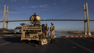 U.S. Marines at the Suez Canal
