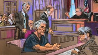 Jeffrey Epstein court sketch