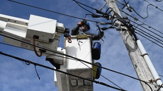 Con Edison works to restore power on July 22, 2019.