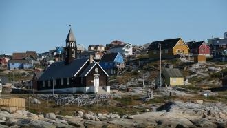 A church in Ilulissat, Greenland