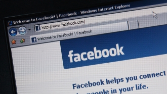 Facebook.com open on a computer screen
