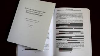 The redacted version of the Mueller Report