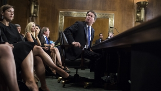 Brett Kavanaugh testifies during the Senate Judiciary Committee hearing on his nomination be a Supreme Court Justice
