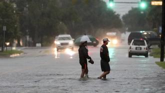 Flooding in Galveston, Texas