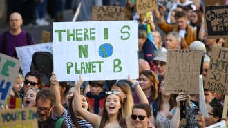 Climate activists march on Friday