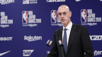 NBA Commissioner Adam Silver speaks during a press conference on October 08, 2019 in Japan.