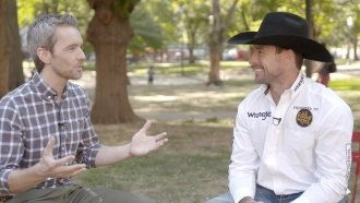 Chance Seales and bull rider Sean Willingham