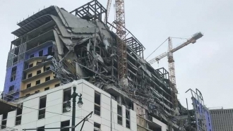 Collapsed Hard Rock hotel