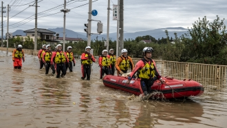 Search and rescue crews look for survivors in Japan after Typhoon Hagibis made landfall
