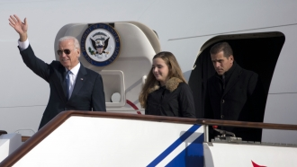 Then Vice President Joe Biden, Finnegan Biden, Hunter Biden in in Beijing, China in Dec. 2013.