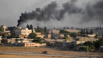 Smoke rises in Syria