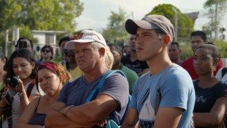 Cuban migrants attend an asylum workshop in Matamoros, Mexico.