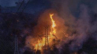 The Saddleridge Fire in California in October 2019