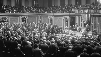 Session of Congress in the early 1900s