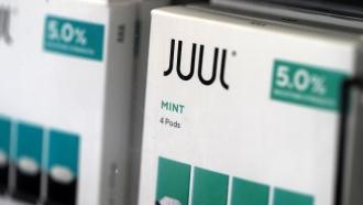 Juul's mint-flavored e-cigarettes