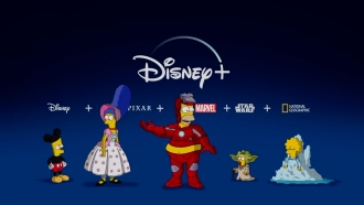 """The Simpsons"" characters promote Disney Plus"
