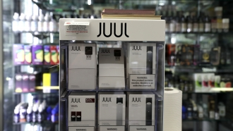 Juul products on display