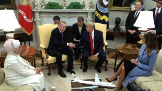 U.S. President Donald Trump with Turkish President Recep Tayyip Erdoğan