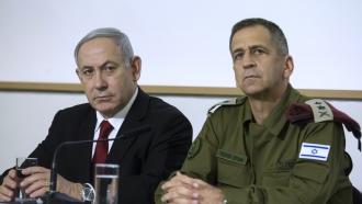 Israeli Prime Minister Benjamin Netanyahu and IDF Chief Aviv Kochavi