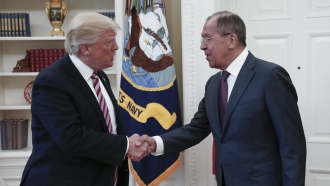 President Donald Trump and Russian Foreign Minister Sergey Lavrov