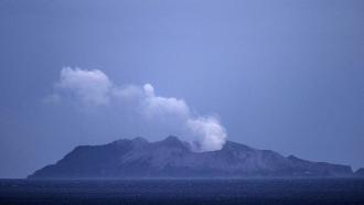 Volcanic eruption in New Zealand