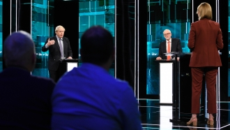 Prime Minister Boris Johnson and Leader of the Labour Party Jeremy Corbyn answer questions during a November 2019 debate