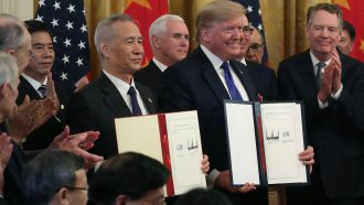President Trump and China Vice Premier Liu He