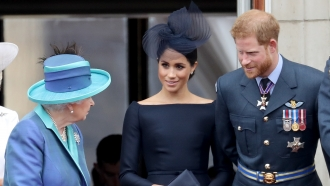 Her Majesty Queen Elizabeth II, Prince Harry and wife, Meghan, Duchess of Sussex
