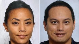 Honolulu Police Officers Tiffany Enriquez and Kaulike Kalama