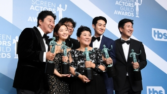 """The cast of """"Parasite"""" at the 2020 SAG Awards"""